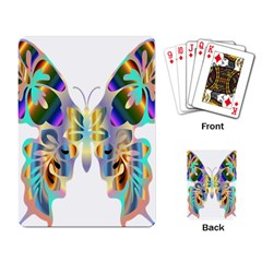 Abstract Animal Art Butterfly Playing Card