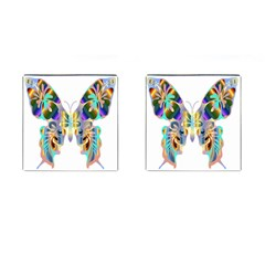 Abstract Animal Art Butterfly Cufflinks (Square)