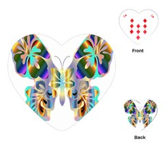 Abstract Animal Art Butterfly Playing Cards (heart)