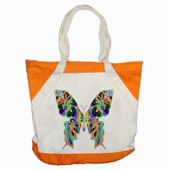 Abstract Animal Art Butterfly Accent Tote Bag