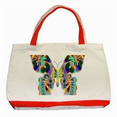 Abstract Animal Art Butterfly Classic Tote Bag (red)