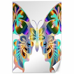 Abstract Animal Art Butterfly Canvas 12  X 18