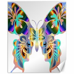 Abstract Animal Art Butterfly Canvas 16  X 20