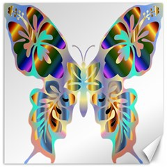 Abstract Animal Art Butterfly Canvas 20  X 20