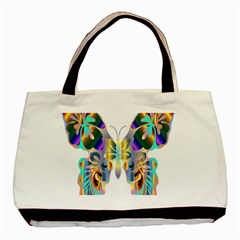 Abstract Animal Art Butterfly Basic Tote Bag (two Sides)