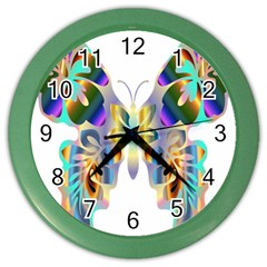 Abstract Animal Art Butterfly Color Wall Clocks