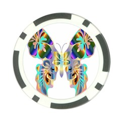 Abstract Animal Art Butterfly Poker Chip Card Guard