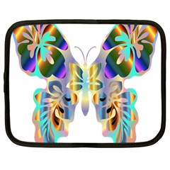 Abstract Animal Art Butterfly Netbook Case (large)