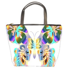 Abstract Animal Art Butterfly Bucket Bags