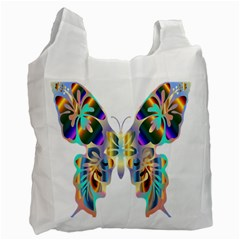 Abstract Animal Art Butterfly Recycle Bag (two Side)