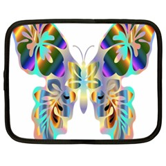 Abstract Animal Art Butterfly Netbook Case (XXL)
