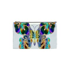 Abstract Animal Art Butterfly Cosmetic Bag (small)
