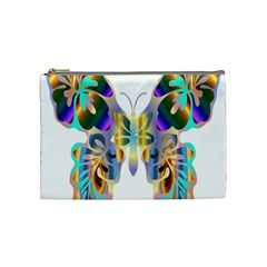 Abstract Animal Art Butterfly Cosmetic Bag (medium)