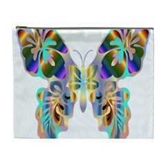 Abstract Animal Art Butterfly Cosmetic Bag (xl)