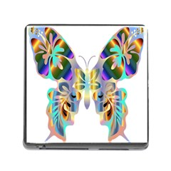 Abstract Animal Art Butterfly Memory Card Reader (square)