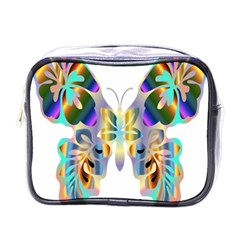 Abstract Animal Art Butterfly Mini Toiletries Bags