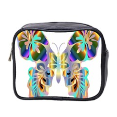 Abstract Animal Art Butterfly Mini Toiletries Bag 2 Side