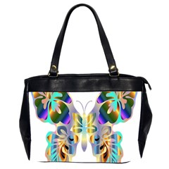 Abstract Animal Art Butterfly Office Handbags (2 Sides)