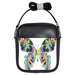 Abstract Animal Art Butterfly Girls Sling Bags