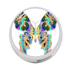 Abstract Animal Art Butterfly 4 Port Usb Hub (one Side)