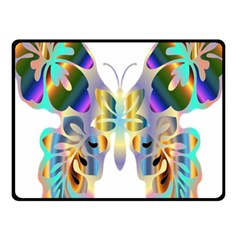 Abstract Animal Art Butterfly Fleece Blanket (small)