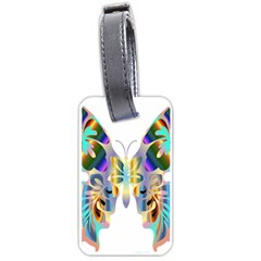 Abstract Animal Art Butterfly Luggage Tags (one Side)