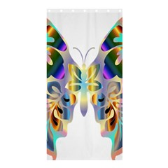 Abstract Animal Art Butterfly Shower Curtain 36  X 72  (stall)
