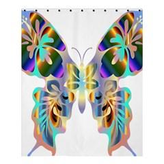 Abstract Animal Art Butterfly Shower Curtain 60  X 72  (medium)