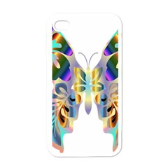 Abstract Animal Art Butterfly Apple Iphone 4 Case (white)