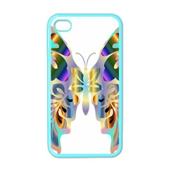 Abstract Animal Art Butterfly Apple Iphone 4 Case (color)