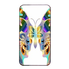 Abstract Animal Art Butterfly Apple Iphone 4/4s Seamless Case (black)
