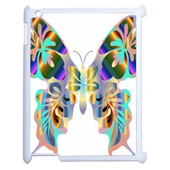 Abstract Animal Art Butterfly Apple Ipad 2 Case (white)
