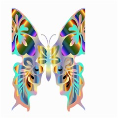 Abstract Animal Art Butterfly Small Garden Flag (two Sides)