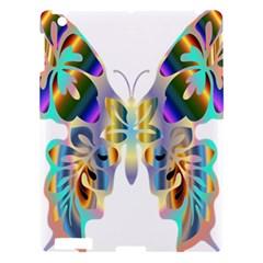 Abstract Animal Art Butterfly Apple Ipad 3/4 Hardshell Case