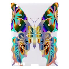 Abstract Animal Art Butterfly Apple Ipad 3/4 Hardshell Case (compatible With Smart Cover)
