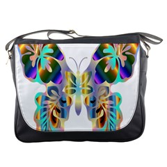Abstract Animal Art Butterfly Messenger Bags