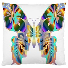 Abstract Animal Art Butterfly Large Cushion Case (one Side)
