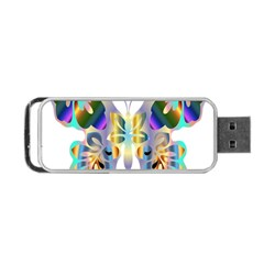 Abstract Animal Art Butterfly Portable Usb Flash (one Side)