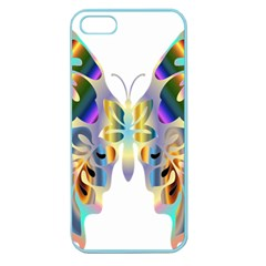 Abstract Animal Art Butterfly Apple Seamless Iphone 5 Case (color)