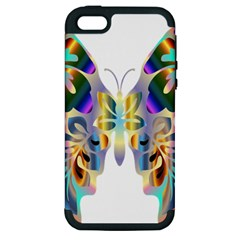 Abstract Animal Art Butterfly Apple Iphone 5 Hardshell Case (pc+silicone)
