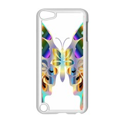 Abstract Animal Art Butterfly Apple Ipod Touch 5 Case (white)