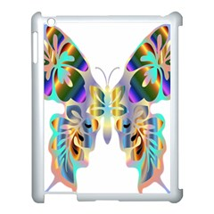 Abstract Animal Art Butterfly Apple Ipad 3/4 Case (white)