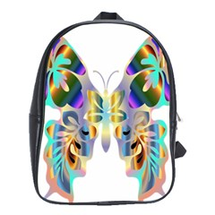 Abstract Animal Art Butterfly School Bags (xl)