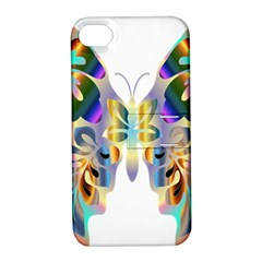 Abstract Animal Art Butterfly Apple Iphone 4/4s Hardshell Case With Stand