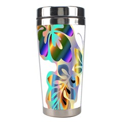 Abstract Animal Art Butterfly Stainless Steel Travel Tumblers