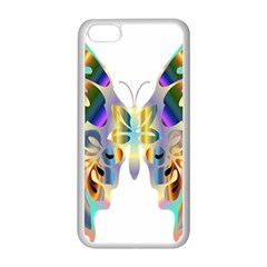 Abstract Animal Art Butterfly Apple Iphone 5c Seamless Case (white)