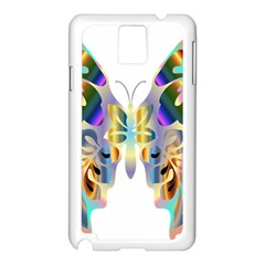 Abstract Animal Art Butterfly Samsung Galaxy Note 3 N9005 Case (white)