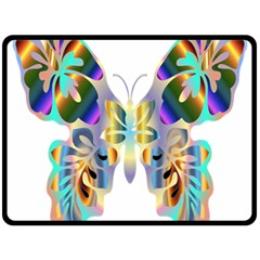 Abstract Animal Art Butterfly Double Sided Fleece Blanket (large)