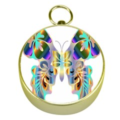 Abstract Animal Art Butterfly Gold Compasses