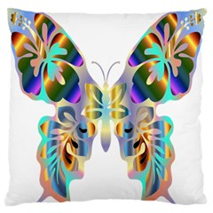 Abstract Animal Art Butterfly Large Flano Cushion Case (one Side)